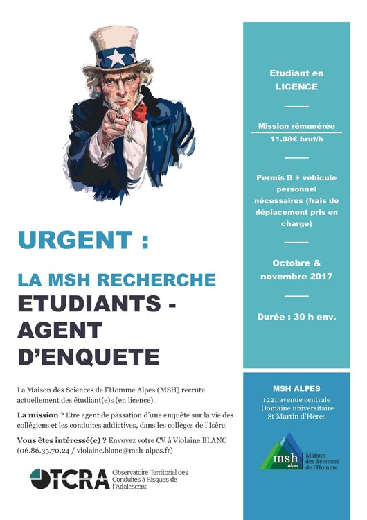 Xl affiche recrutement  tudiants otcra