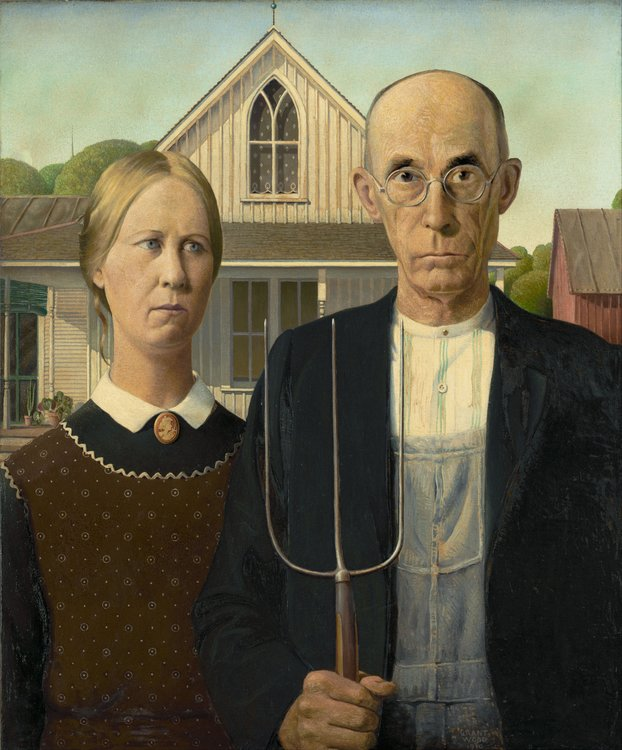 Xl grant wood   american gothic   google art project