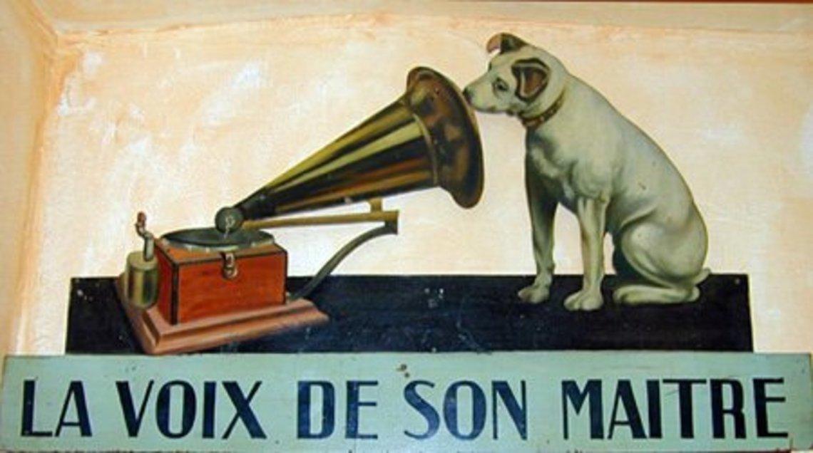 """Résultat de recherche d'images pour """"la voix de son maitre logo"""""""