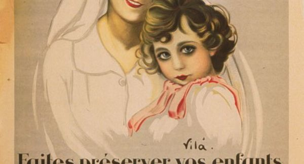 Lg a nurse holding a young child   poster