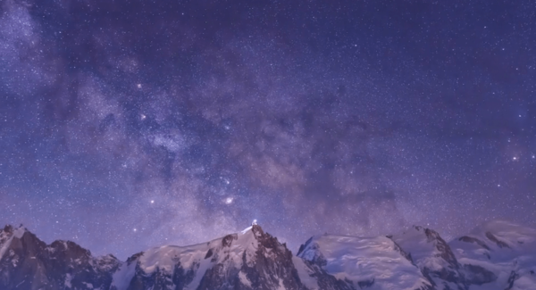 Lg mont blanc milky way time lapse on vimeo