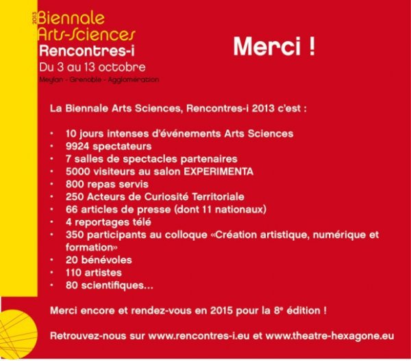 Rencontres i biennale arts sciences