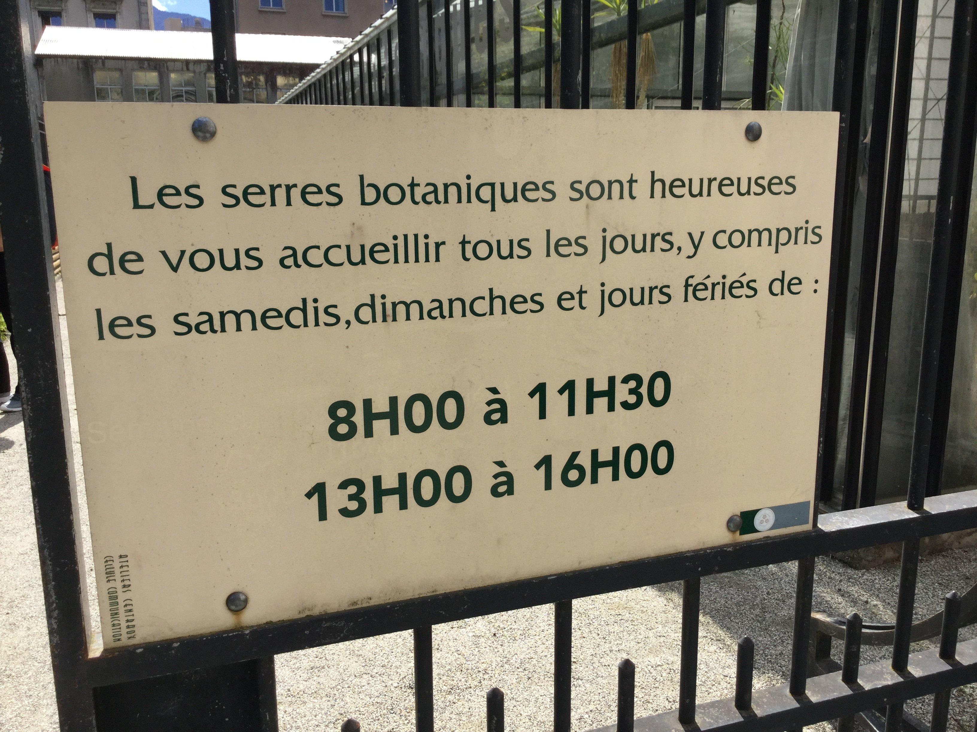 Visite des Serres botaniques du Jardin des Plantes de Grenoble ...