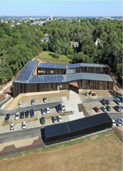 Fig. 5: Microgrid implanté sur un bâtiment en France