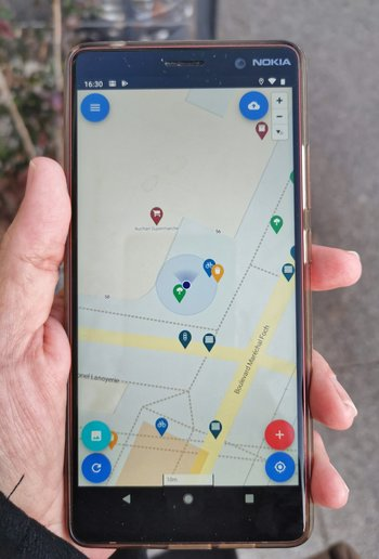Xl osm go  on smartphone